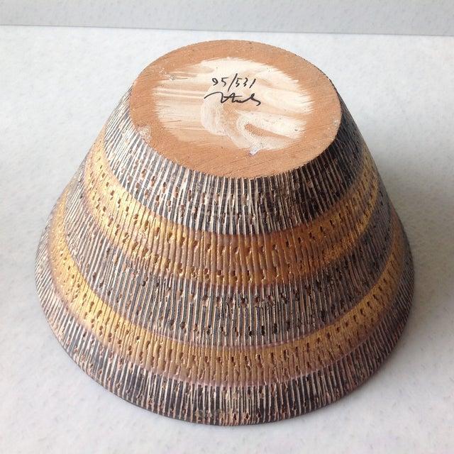 Image of Aldo Londi Bitossi Black And Gold Pottery Bowl