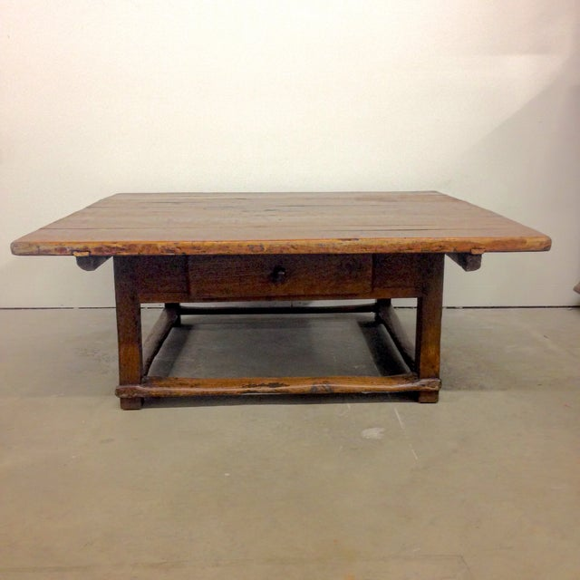 Antique Coffee Tables Ireland: Antique Austrian Coffee Table With Drawer