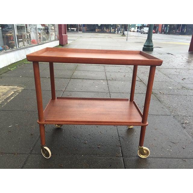 Danish Modern Teak Bar Cart - Image 2 of 6