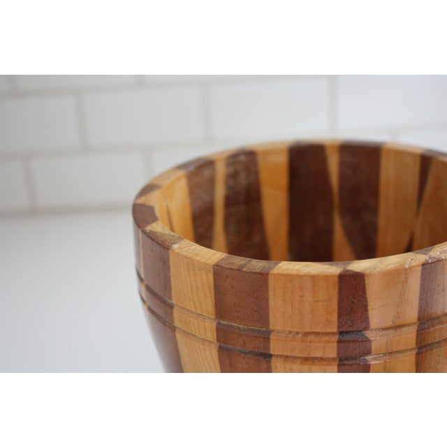 Lidded Wooden Pedestal Bowl - Image 10 of 10