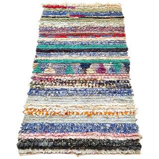 "Moroccan Striped Boucharouite Rug 2'10"" x 4'10"""