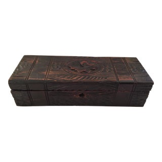 Antique Carved English Box