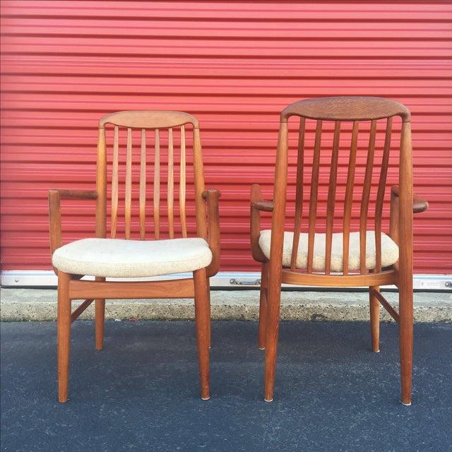 Danish Modern Style Teak Dining Chairs - Set of 6 - Image 10 of 11