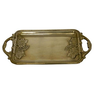 Antique French Solid Brass Vintner's Tray