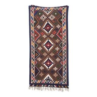 Vintage Persian Kilim Handmade Rug - 4'8'' X 9'6''
