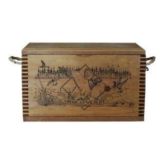 American Wildlife Wooden Box