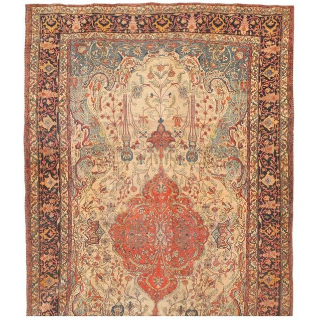 Image of Antique Persian Sarouk Carpet