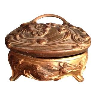 Antique French Art Nouveau Trinket Box