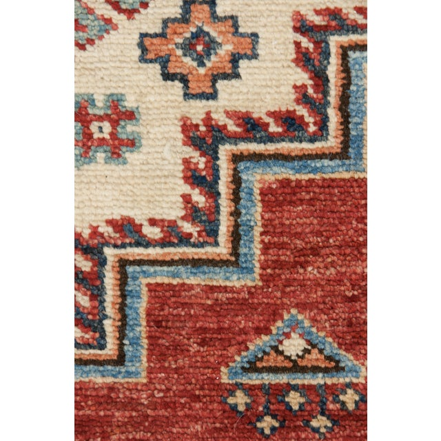 "Kazak Hand Knotted Area Rug - 5' X 6'10"" - Image 3 of 3"