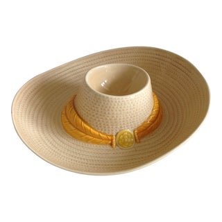 Vintage Ceramic Chip and Dip Sombrero Hat