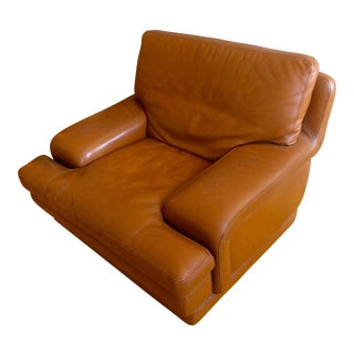Roche Bobois Leather Club Chair