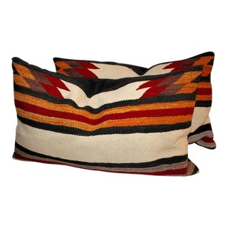 Navajo Indian Weaving Saddle Blanket Pillows