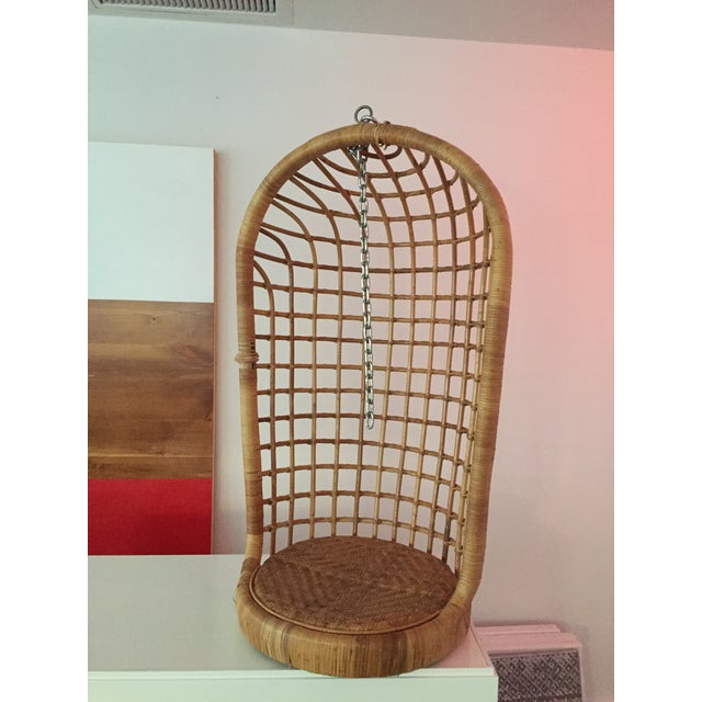 Image of Vintage Boho Chic Rattan Hanging Chair