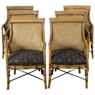 Hollywood Regency McGuire Style Chairs - Set of 6