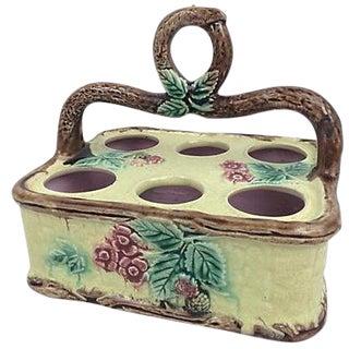 English Majolica Egg Basket