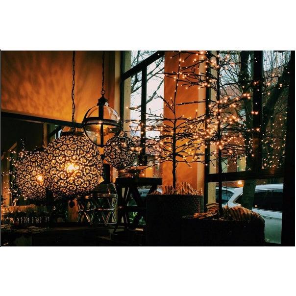 Large Crystal Black Swirl & Brass Chandelier - Image 5 of 5