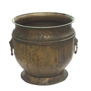 Luxurious Lion Brass Cachepot Vessel