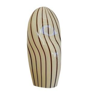 Striped Murano Italian Art Glass Lamp