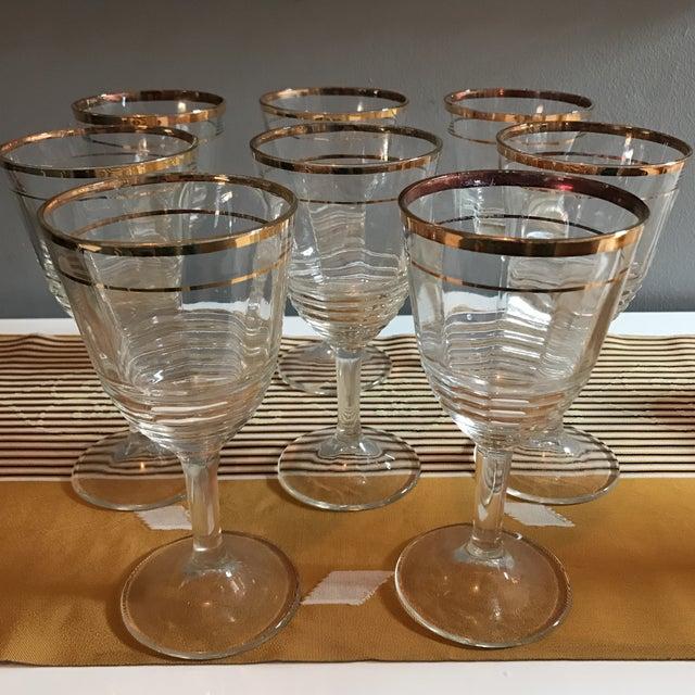 Gold Rimmed Glasses - Set of 8 - Image 2 of 6
