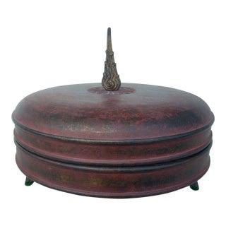 Chinoiserie Cylindrical Box