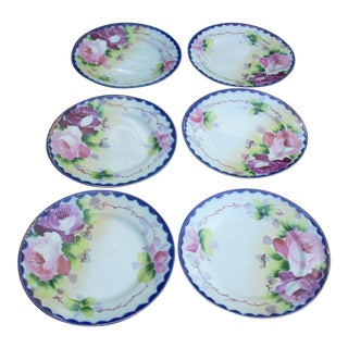 Vintage Japanese Dessert Plates - Set of 6