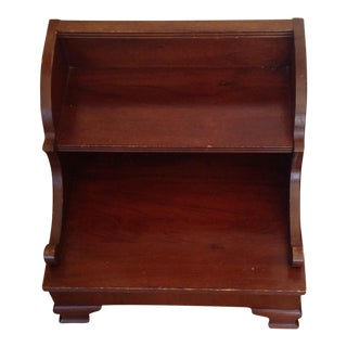 Vintage Mahogany Library Step