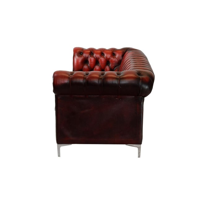 1970's English Leather Chesterfield Sofa - Image 3 of 4