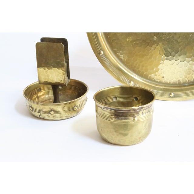Hammered Brass Serveware - Set of 3 - Image 4 of 4