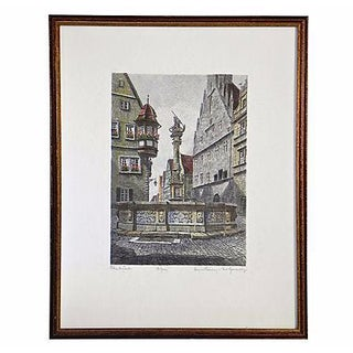 Rothenburg Ob Der Tauber Etching