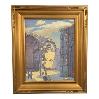 Ray Carpenter Capistrano Ruins Oil Painting