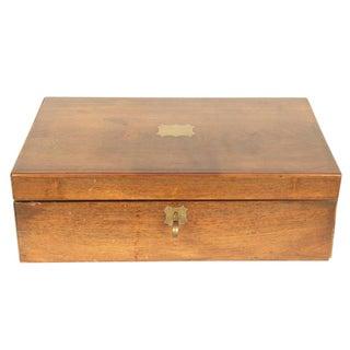 Gold Detailed Mahogany Writing Box