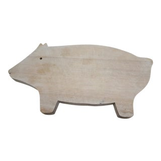 Carved Pig Cutting Board