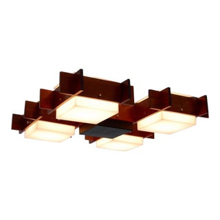 French Modernist Flush Mount