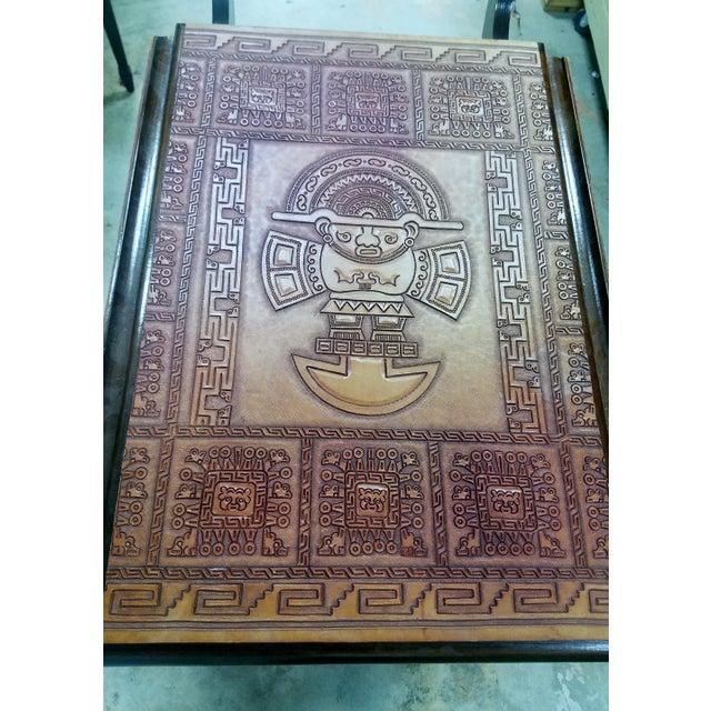 Mid-Century Modern Aztec Mayan Bar Cart - Image 4 of 11