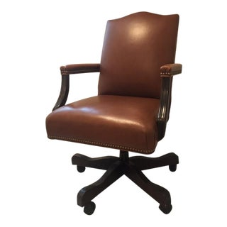 Ethan Allen Lee Leather Desk Chair