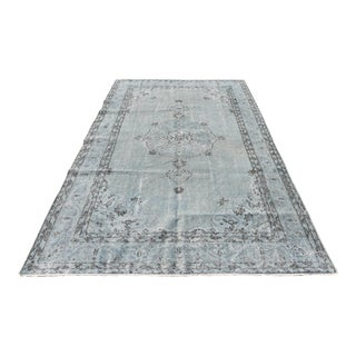 Antique Turkish Hand-Knotted Oushak Rug - 5′9″ × 9′6″