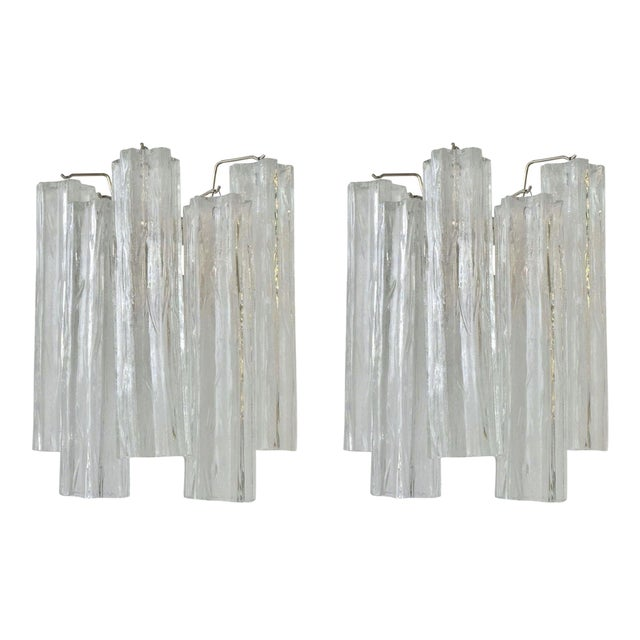 Image of Camer Murano Tronchi Sconces - A Pair