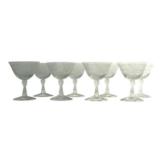 Fostoria Etched Crystal Stemware - Set of 8