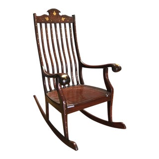Mahogany Wood Rocking Chair