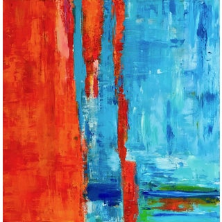 """Orange Glow"" Original Artwork Abstract Expressionist Painting"