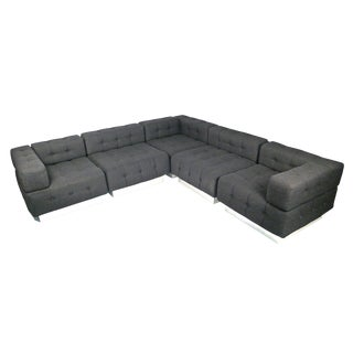 Gray Window Pane Harvey Probber Cube Sectional Sofa