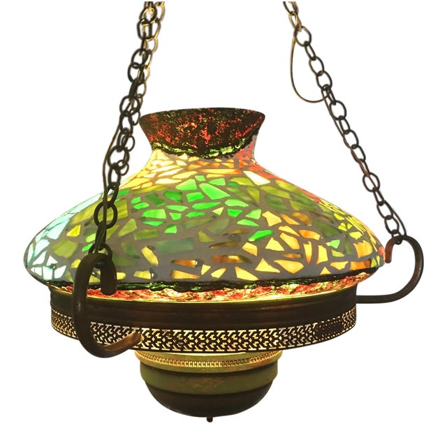 Vintage 1940s Mosaic Ceiling Lamp - Image 1 of 10