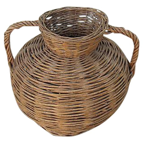 Image of Vintage French Wicker Urn