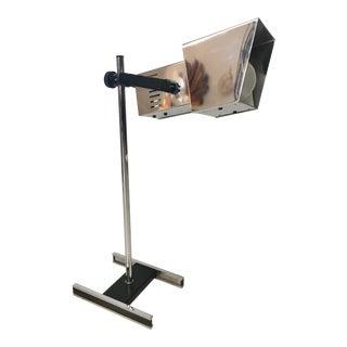 Vintage Adjustable Silver Metal Desk Lamp