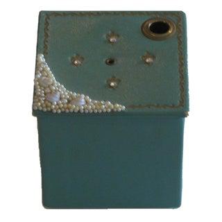 Vintage Beaded Turquoise Box