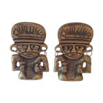 Image of Brass Tiki Tribal Men Bookends - Pair