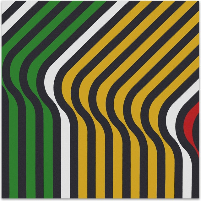 "Mid-Century 1973 ""Ripples"" Supergraphic - Image 1 of 5"
