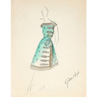 G. Bayh 1950s Cocktail Dress Illustration