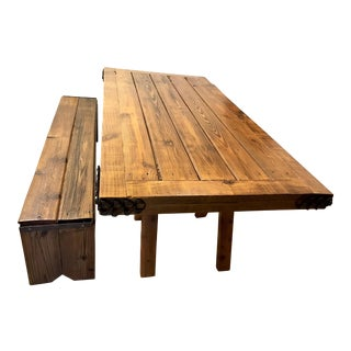 Barn Wood Farm Table With Bench