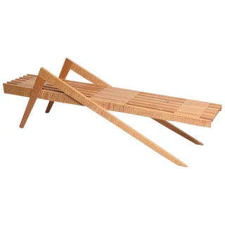 "Marc Phiffer Bespoke Wood ""Grasshopper"" Bench"